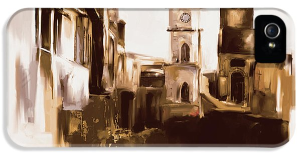 Clock iPhone 5 Case - Painting 790 4 Cunningham Clock Tower by Mawra Tahreem