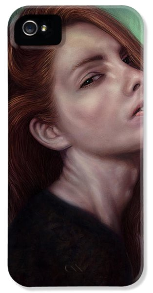 Painting Of A Woman I Will Never Know IPhone 5 Case by James W Johnson