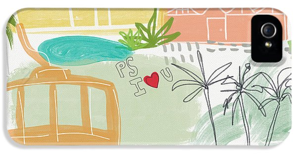 Palm Springs Cityscape- Art By Linda Woods IPhone 5 Case by Linda Woods