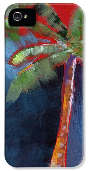 Palm Tree- Art By Linda Woods IPhone 5 Case by Linda Woods