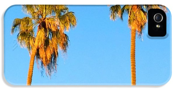 #palm #trees At Sunset. #california IPhone 5 Case by Shari Warren
