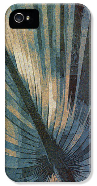 Palmetto Embrace-blue Gold IPhone 5 Case by Marvin Spates