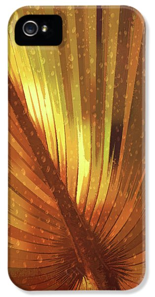 Palmetto Embrace-golden IPhone 5 Case by Marvin Spates