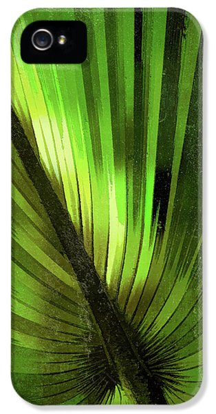 Palmetto Embrace-green Textured IPhone 5 Case by Marvin Spates