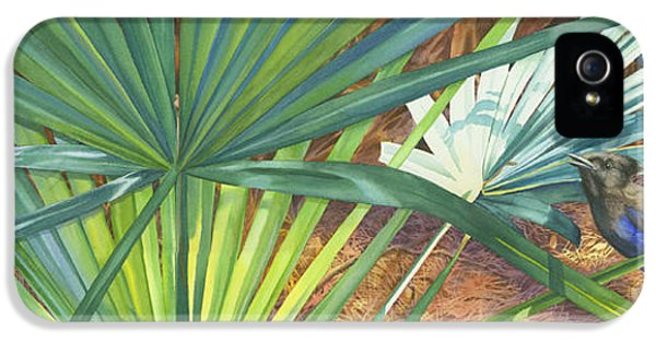 Bluejay iPhone 5 Case - Palmettos And Stellars Blue by Marguerite Chadwick-Juner