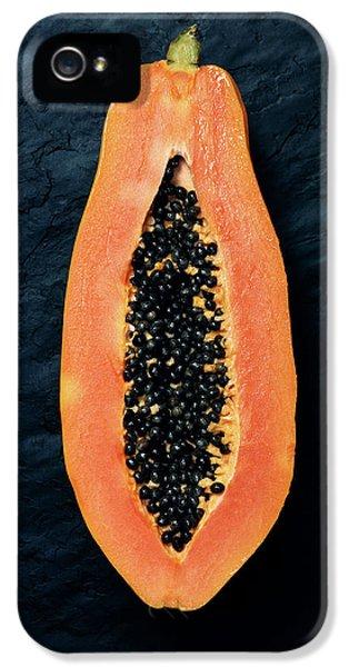 Papaya Cross-section On Dark Slate IPhone 5 Case