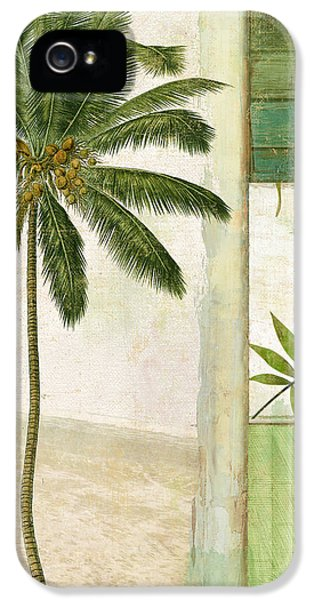 Paradise II Palm Tree IPhone 5 Case by Mindy Sommers
