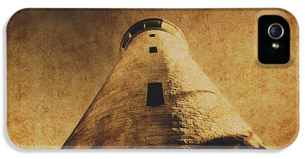 Damage iPhone 5 Case - Parchment Paper Lighthouse by Jorgo Photography - Wall Art Gallery