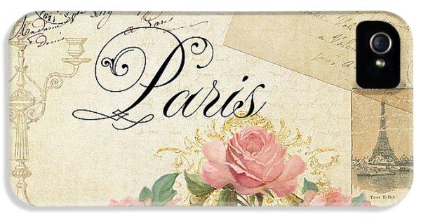 Paris iPhone 5 Case - Parchment Paris - Timeless Romance by Audrey Jeanne Roberts