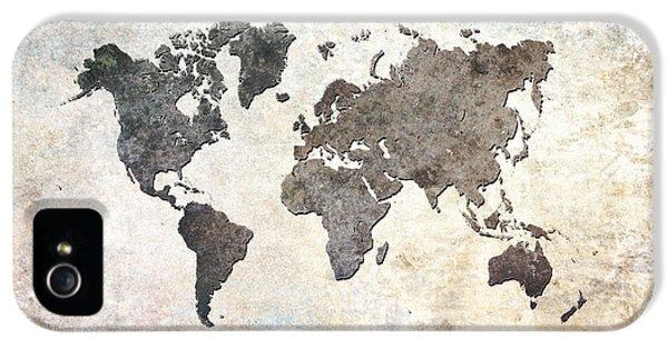 Parchment World Map IPhone 5 Case