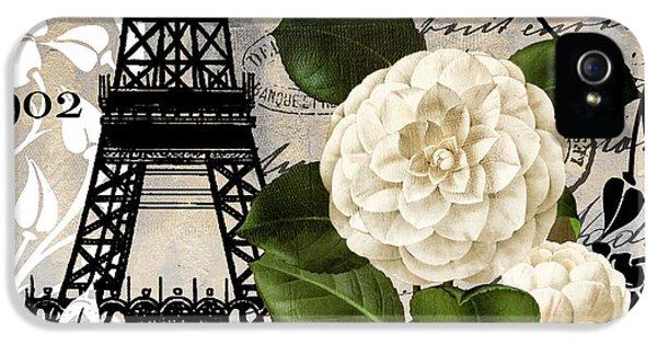 Paris iPhone 5 Case - Paris Blanc I by Mindy Sommers