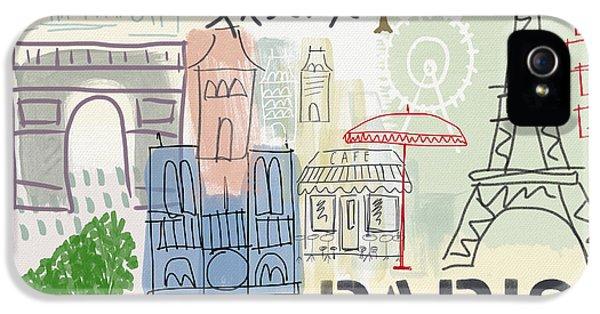 Paris iPhone 5 Case - Paris Cityscape- Art By Linda Woods by Linda Woods