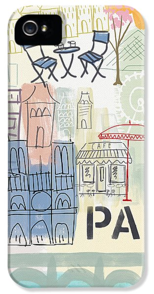 Paris Cityscape- Art By Linda Woods IPhone 5 / 5s Case by Linda Woods