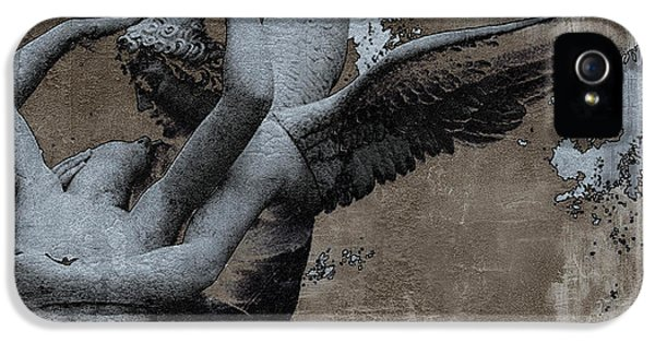 Paris Eros And Psyche - Surreal Romantic Angel Louvre   - Eros And Psyche - Cupid And Psyche IPhone 5 Case by Kathy Fornal