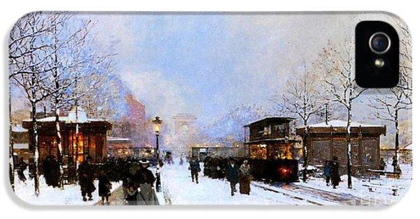 Paris In Winter IPhone 5 Case by Luigi Loir