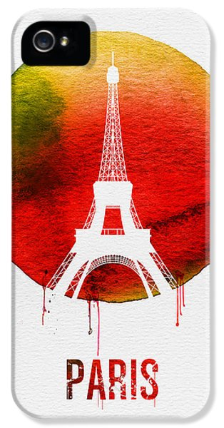 Paris Landmark Red IPhone 5 Case by Naxart Studio