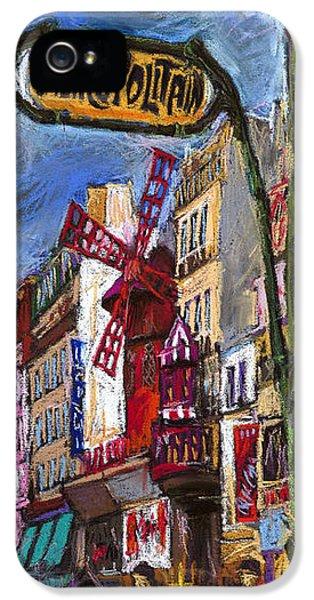 Paris Mulen Rouge IPhone 5 Case by Yuriy  Shevchuk