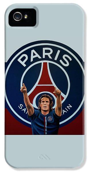 Paris Saint Germain Painting IPhone 5 Case by Paul Meijering