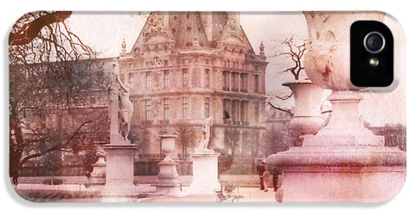Paris Tuileries Park Garden - Jardin Des Tuileries Garden - Paris Tuileries Louvre Garden Sculpture IPhone 5 / 5s Case by Kathy Fornal