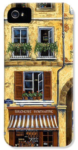 Umbrella iPhone 5 Cases - Parisian Bistro and Butcher Shop iPhone 5 Case by Marilyn Dunlap