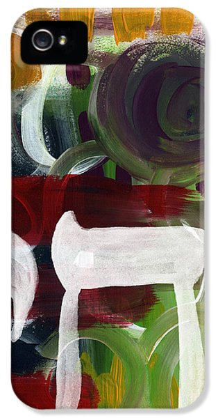 Passages 2- Abstract Art By Linda Woods IPhone 5 Case by Linda Woods