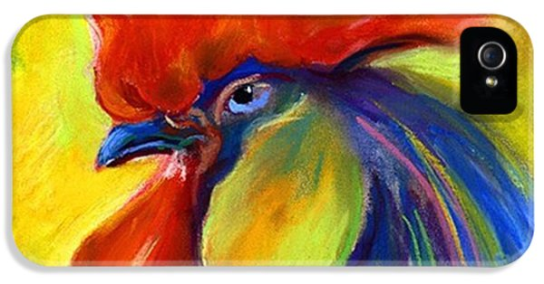 Colorful iPhone 5 Case - Pastel Rooster By Svetlana Novikova ( by Svetlana Novikova