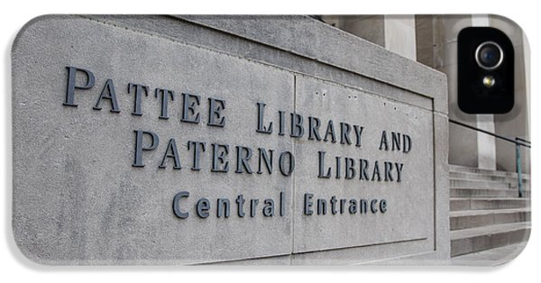 Paterno Library At Penn State  IPhone 5 Case by John McGraw