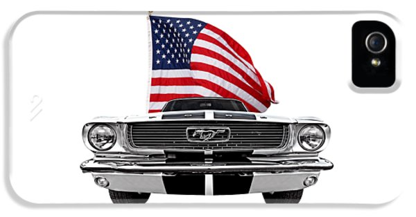 Patriotic Mustang On White IPhone 5 Case