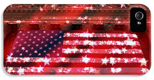 Patriotic New York Stock Exchange Tote Bag IPhone 5 Case by John Rizzuto