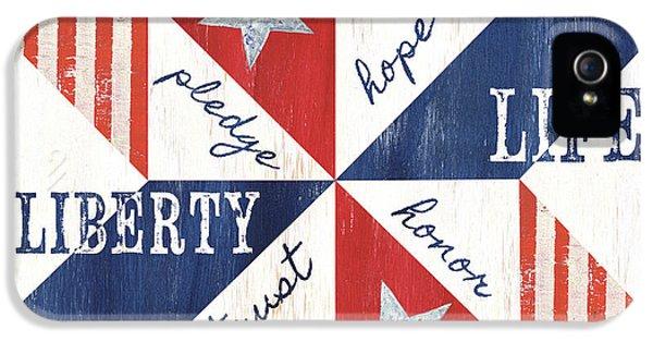 Patriotic Quilt 1 IPhone 5 Case by Debbie DeWitt