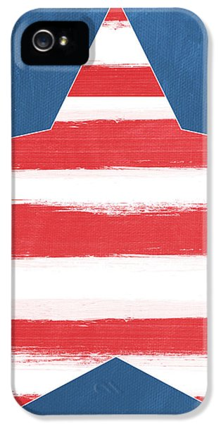 Patriotic Star IPhone 5 Case by Linda Woods
