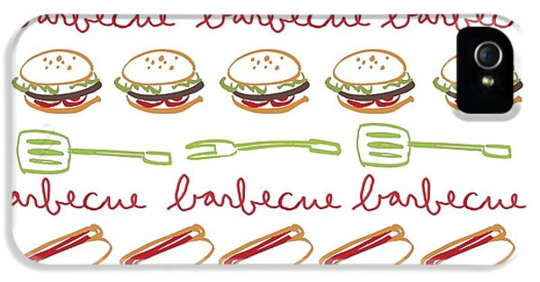 Pattern With Barbecue Lettering, Hot IPhone 5 Case by Gillham Studios