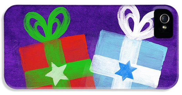 Peace And Joy- Hanukkah And Christmas Card By Linda Woods IPhone 5 Case by Linda Woods