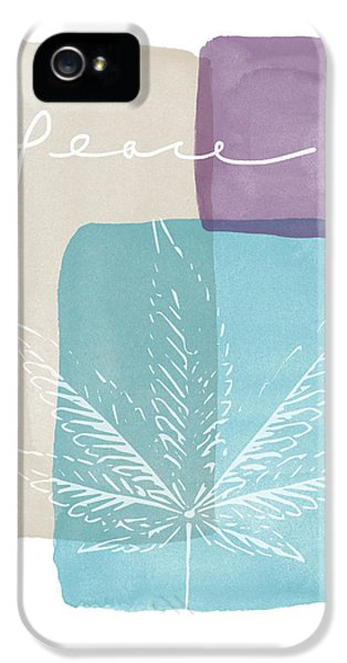 Peace Cannabis Leaf Watercolor- Art By Linda Woods IPhone 5 Case