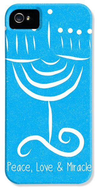 Peace Love And Miracles With Menorah IPhone 5 Case