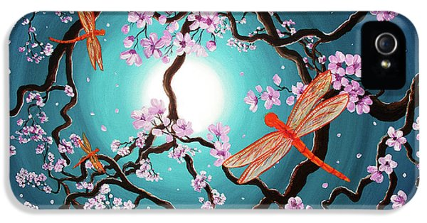 Peace Tree With Orange Dragonflies IPhone 5 Case