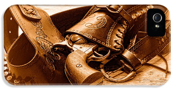 Peaceful Peacemaker - Sepia IPhone 5 Case by Olivier Le Queinec