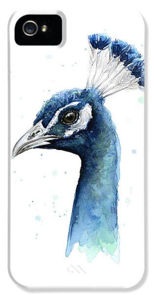 Peacock Watercolor IPhone 5 Case