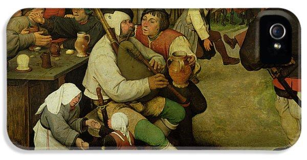 Peasant Dance IPhone 5 Case by Pieter the Elder Bruegel