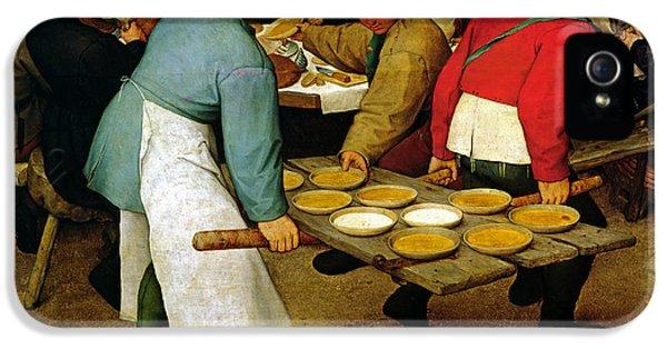 Peasant Wedding IPhone 5 Case by Pieter the Elder Bruegel