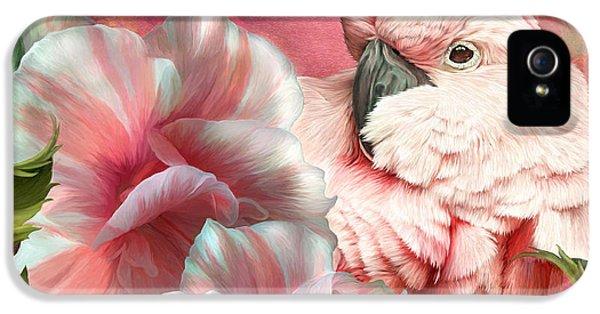 Peek A Boo Cockatoo IPhone 5 Case by Carol Cavalaris