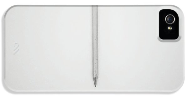 Pencil On A Blank Page IPhone 5 Case