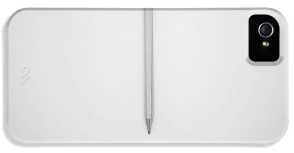 Pencil On A Blank Page IPhone 5 Case by Scott Norris