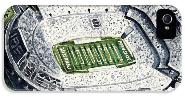 Penn State Beaver Stadium Whiteout Game University Psu Nittany Lions Joe Paterno IPhone 5 Case by Laura Row