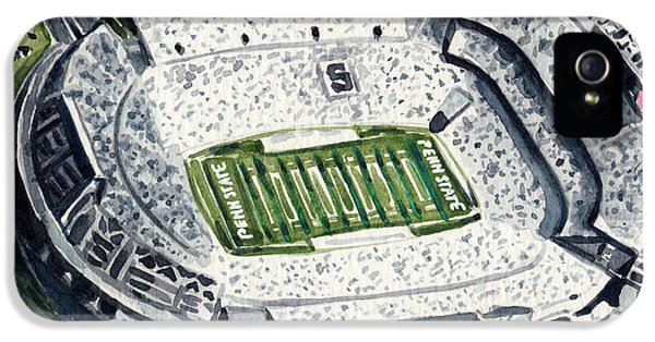 Penn State Beaver Stadium Whiteout Game University Psu Nittany Lions Joe Paterno IPhone 5 / 5s Case by Laura Row