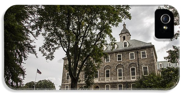 Penn State Old Main And Tree IPhone 5 Case by John McGraw