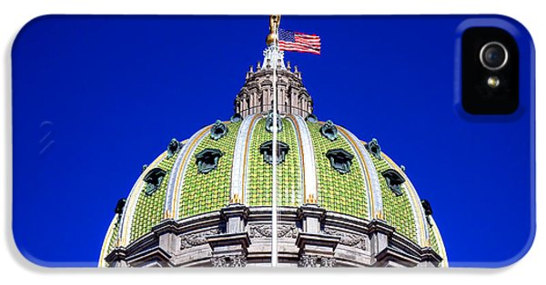 Pennsylvania Capitol Dome  IPhone 5 Case by Olivier Le Queinec