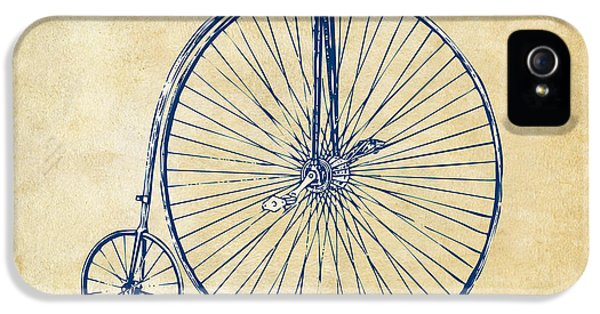 Bicycle iPhone 5 Case - Penny-farthing 1867 High Wheeler Bicycle Vintage by Nikki Marie Smith