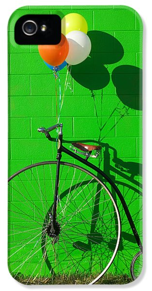 Bicycle iPhone 5 Case - Penny Farthing Bike by Garry Gay