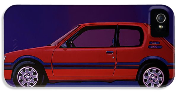 Peugeot 205 Gti 1984 Painting IPhone 5 Case by Paul Meijering